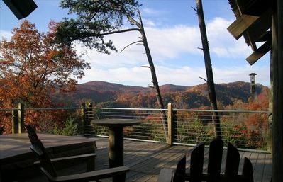 Fall Mountain View from Hot Tub Deck