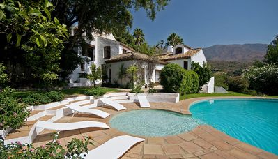 Photo for Magnificent villa with gardens and pool, near coast in Andalucia, Costa del Sol