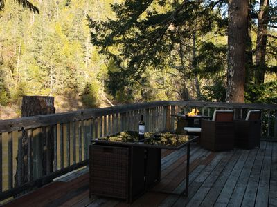 Photo for Private Riverfront Home with deck on the Beautiful Smith River - North Coast, Ca