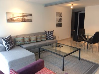 Photo for Comfortable two bedroom apartment close to polanco, in a residential area.