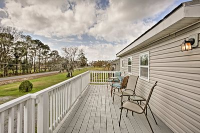 Spend time outdoors on the spacious deck.