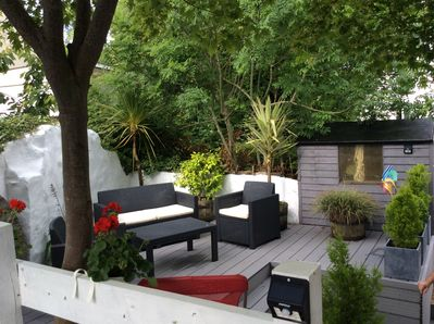 All new decking with seating area