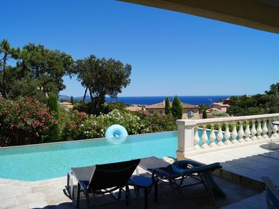 Photo for ST AYGULF luxury villa with pool sea view 1 km from the sea