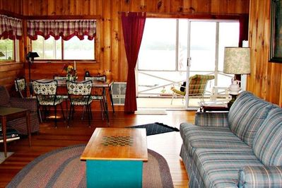 View of lake from Knotty Pine Living Room
