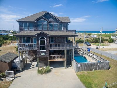 Photo for 3 MIN WALK TO BEACH, Semi  -Oceanfront, 5 BRs 5 1 /2 BA, Pool, Hot Tub, Dogs Ok