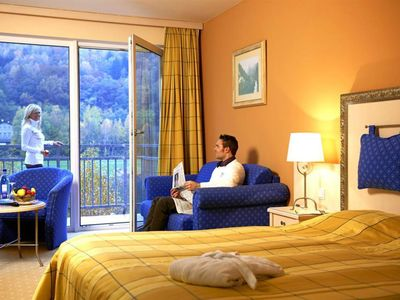 Photo for Double Room, Shower, Toilet - View to the Elbe - Parkhotel Bad Schandau