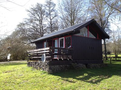 Photo for Cosy cabin with open views of Loch Awe.