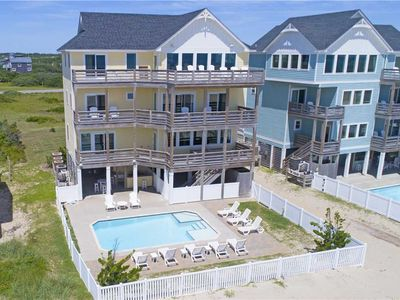 Photo for Oceanfront Retreat w/ Elevator, Theater & Game Rms, Pool, Hot Tub, Dog-Friendly