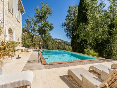 Photo for Spacious Olive Mill, Heated Pool, South Facing Terrace.Private Peaceful Location