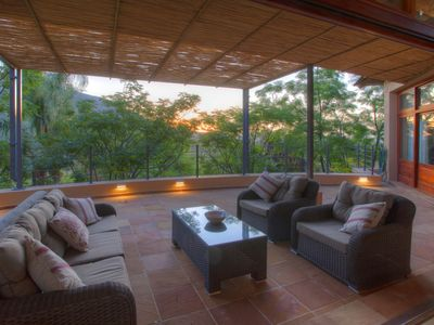 Photo for Stunning villa with large private pool and vista of the mountains