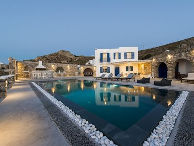 Photo for Villa In Mykonos With Magnificent Sea View And Sunset View