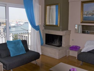 Photo for Luxury 2 Bedroom Maisonette with Sea View in Piraeus, Athens