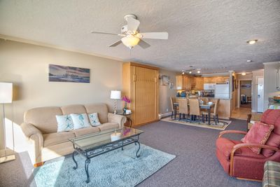 The condo is much larger than a standard Sea Gypsy condo