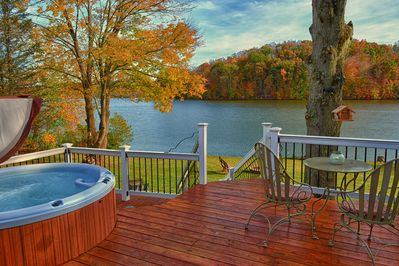 Beautiful fall view from the large deck.