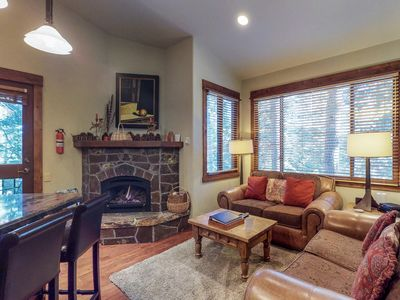 Photo for Ski-in/ski-out getaway with access to a communal pool, hot tub & tennis courts!