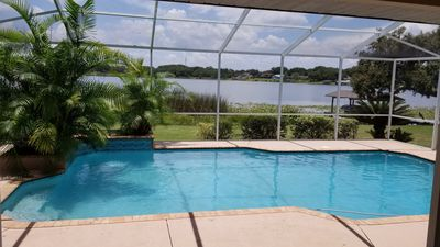 Photo for Gorgeous lake front pool home!  Close to Orlando and Tampa attractions!