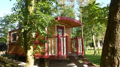 Photo for Unusual stays between sea and countryside. trailer, wooden cottage
