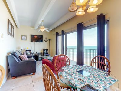 Photo for Cozy, oceanfront condo w/shared pool & hot tub - ocean views, walk to the beach!