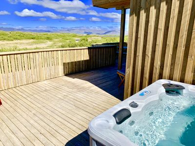 Hot Tub out on the patio.