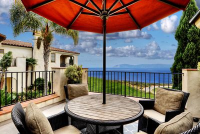 Open-air Ocean View Deck with seating for 6-8