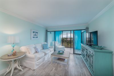 Completely updated condo with beach colors!