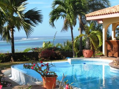 Villa Marama - view from the pool deck - Vacation rental - Moorea