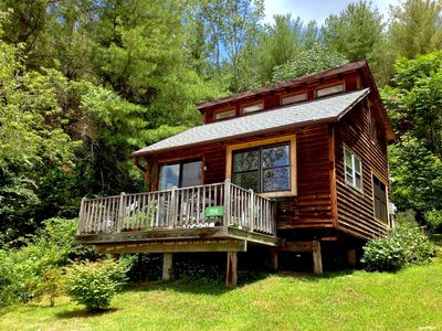 Photo for Broadwing Farm Cabins -Pine Cabin- Hot Tub with Mineral Water