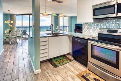 Our newly renovated kitchen offers an open floorplan.