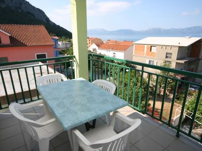 Photo for Studio flat with terrace and sea view Gradac, Makarska (AS-2784-d)