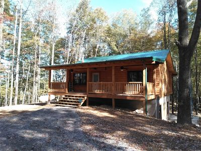 Photo for Incredible secluded cabin featuring amazing forest views off of the back deck!