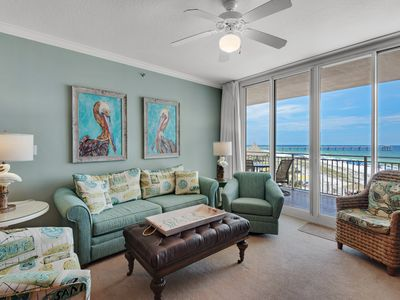 Photo for Closest 2 Bedroom to Beach Spectacular Gulf, Pier, & Dolphin View w/Beach set-up