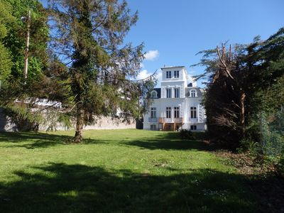 Photo for Deauville-Trouville center and train station: Villa La Cressonnière and its vast garden
