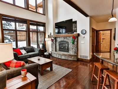 Photo for Cozy Modern Condo on Big Mountain, in the heart of the village, private hot tub