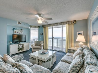 Photo for Beach Chic Oceanfront Condo, Jacuzzi Tub, Lazy River | Crescent Shores - N 1203