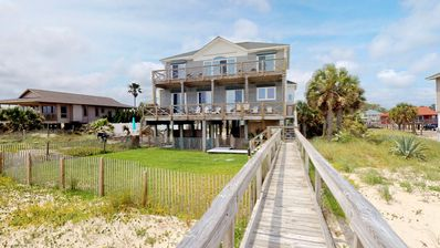 "Photo for Ready To Rent Now! FREE BEACH GEAR! Beachfront, Pets, Pool, Hot Tub, Private Boardwalk, 5BR/4.5BA ""Shell Bee"""