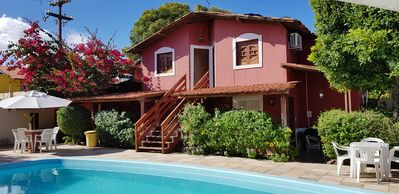 Photo for Cozy cottages in the French Beach w / pool, leisure area. 100mts from the sea