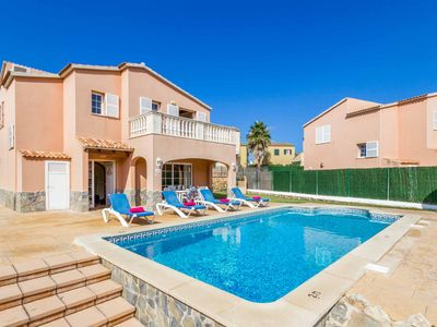 Photo for Villa Llebeig - great location 5 mins from the beach, pool, Wi-Fi & A/C included