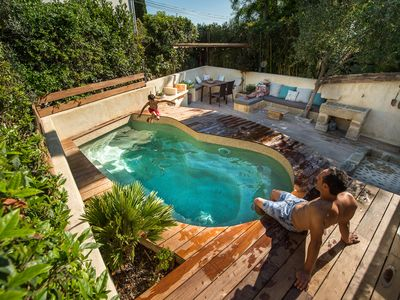 Photo for cottage in the Camargue private jacuzzi pool