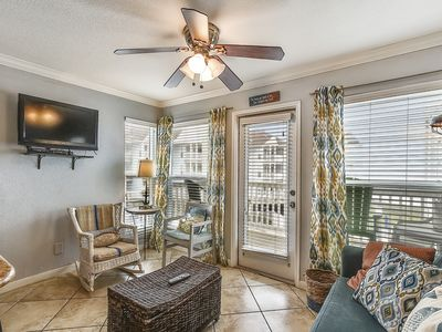 Photo for ON the Beach- 4th Balcony from beach close to Moody Gardens Golf Course 1214
