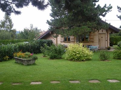 Photo for INDEPENDENT CHALET rental very quiet site on the edge of a village typiqye