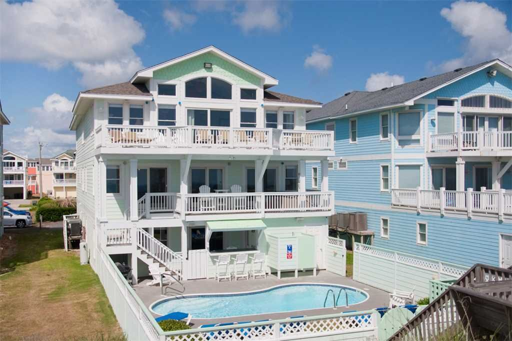 home again oceanfront private pool hot tub theater and