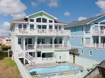 Photo for Home Again: Oceanfront, private pool, hot tub, theater & rec room & elevator.