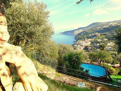 Photo for Villa Lobra with Private Swimming Pool, Sea View, Terraces and Free Parking