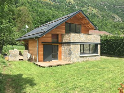 Photo for Chalet wood mountain Orlu near Ax-les-Thermes