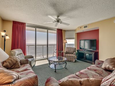 Photo for Crescent Shores 1008, 3 Bedroom Beachfront Condo, Hot Tub and Free Wi-Fi!