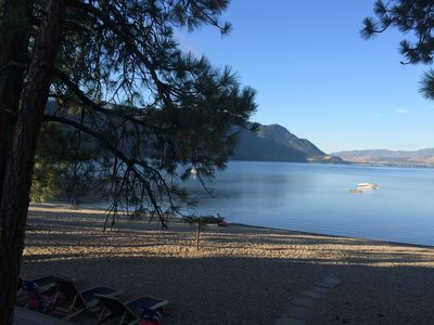 Photo for Large Beach Front Cottage on Sunny Shuswap Lake