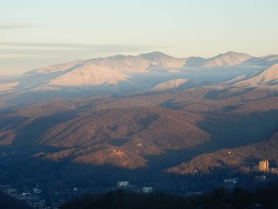 Photo for Astounding Views!  See Mt. LeConte,  Gatlinburg and Ski Slope from the Balcony!