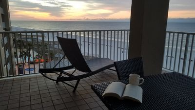 Photo for 3BR Beautiful, panoramic view of Gulf on waterfront balcony-safe & sanitized
