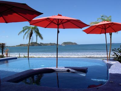 Photo for Amazing 5 bd/5 ba beachfront Villa Infinity pool with housekeeping