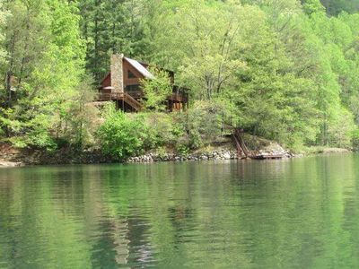 Photo for Lakefront Lodge - 3 Master Suites, 2  Docks, 2 Canoes & Rowboat, Firepit. Game Room w/Pool Table!